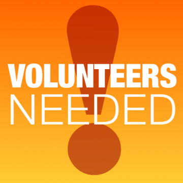 Volunteers Needed in These Areas